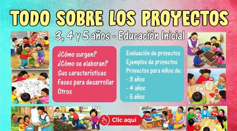 Proyectos de aprendizaje Mundo Inicial