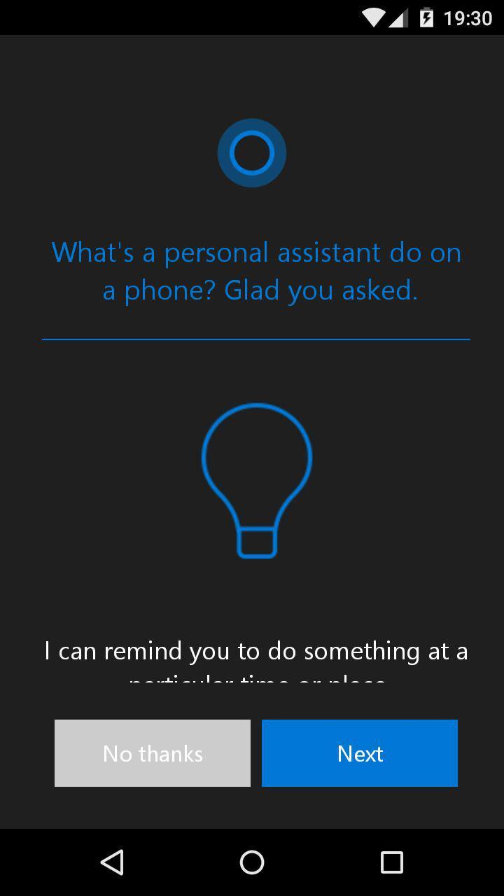 Opciones de activación de Cortana