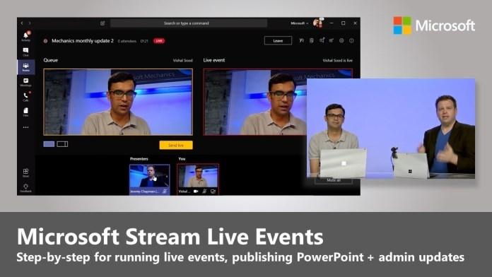 Microsoft Live Events gratuito