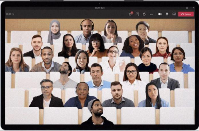 El modo Together de Teams hace que las reuniones sean más atractivas