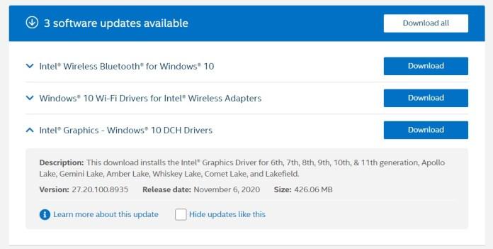 La nueva actualización de gráficos integrados de Intel para Windows 10 podría acelerar tu PC