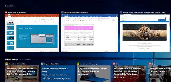 Windows 10 21H2 acabará con la compatibilidad entre dispositivos de Windows Timeline
