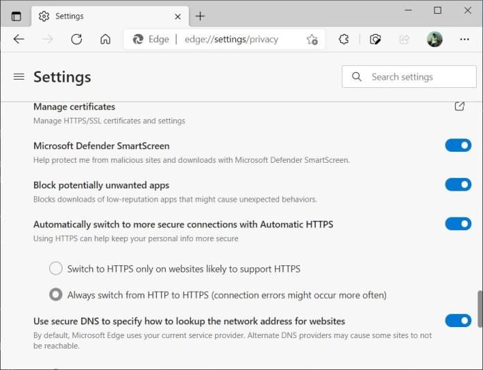 Microsoft Edge obtiene nuevas mejoras de seguridad en Windows 10