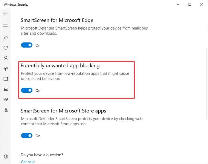 Windows 10 protegerá automáticamente los equipos de aplicaciones potencialmente no deseadas