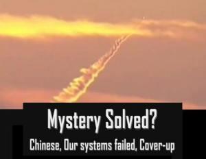 Expertos: La estela misteriosa podrían ser misiles chinos