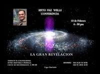 """Conferencia """"La Gran Revelación"""" de Sixto Paz."""