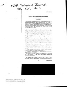 La Agencia de Seguridad Nacional lanza algunos documentos ovnis on-line