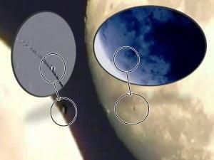 Más ovnis cerca de la superficie de la Luna – 11 de julio 2011