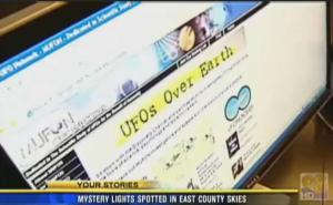 Noticias locales de televisión – ovnis vistos sobre El Cajon, California – Agosto, 2011