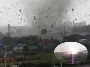 Tornado golpeó la ciudad rusa de Blagoveshchensk, en la frontera con China – 28 de julio 2011