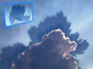 ¿Nube con sombra detrás? Rowlett, TX, 24 de agosto 2011