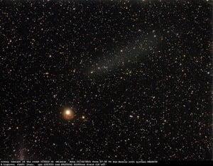La nube de restos de fragmentos del cometa Elenin se ha detectado, 22 octubre 2011