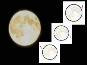 Múltiples OVNIs moviéndose por la Luna, 12 de octubre 2011