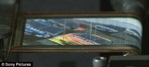 Televisor de pantalla plana que se puede enrollar y guardar en el bolsillo