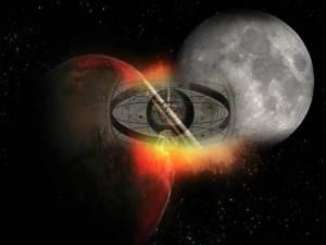 Viajes cósmicos: nacimiento de la Luna
