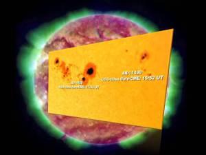 Actividad Solar: Llamarada solar/CME clase M8.4 hacia la Tierra – 11 de marzo 2012
