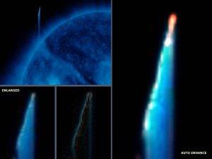 Gran Anomalía 'OVNI' vista cerca del sol – 02 de agosto 2012