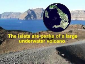 """Gigante """"globo de magma"""" se infla bajo el volcán Santorini cerca de Grecia"""
