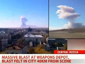 4.000 toneladas de proyectiles explotan en Rusia Central – Oct 9, 2012