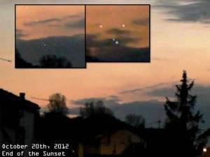 Cuatro OVNIs en el cielo de Francia – 20 de octubre 2012