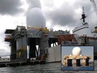 """¿La Marina de los EE.UU. está implementando la plataforma """"HAARP"""" SBX-1 para golpear a Corea del Norte con terremotos?"""