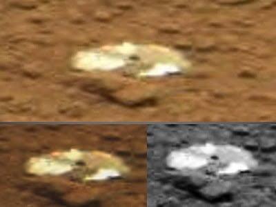 ¿Disco compacto brillante de color dorado encontrado en Marte? – Sonda marciana Curiosity, 2013
