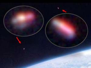 'Naves de luz' sin identificar fotografiadas por los astronautas de la Gemini X