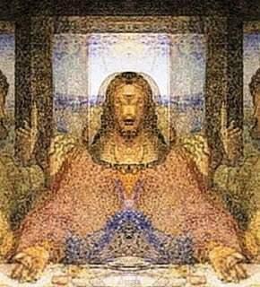 "Da Vinci ""La Última Cena"" imagen oculta"