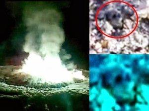 Objeto luminoso misterioso cae en el bosque ruso y se prende fuego el 15 de octubre 2013