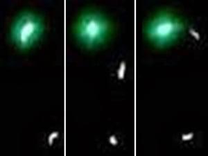 """¿Orbe verde """"reposta"""" mediante un orbe más pequeño por debajo de él? – 26 de octubre 2013"""