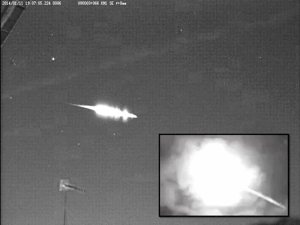 Agáchate y ponte a cubierto, enorme bola de fuego sobre Japón el 11 de enero 2014
