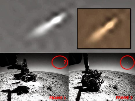 OVNI grabado por la sonda marciana Curiosity – 05 de enero 2014