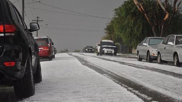 Tormenta de granizo en Australia