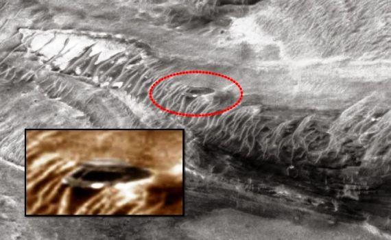 Extraña forma de disco en Marte