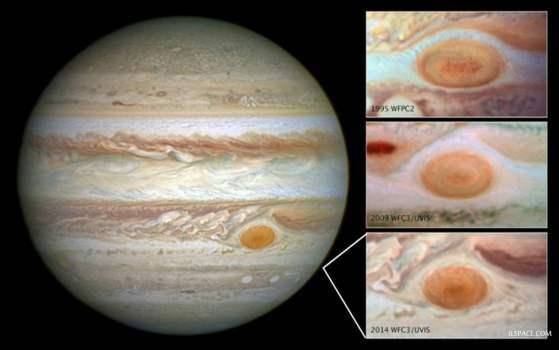 La Gran Mancha Roja de Júpiter Calienta el Planeta Inexplicablemente