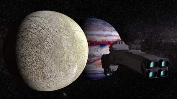 NASA sobre el satélite Europa