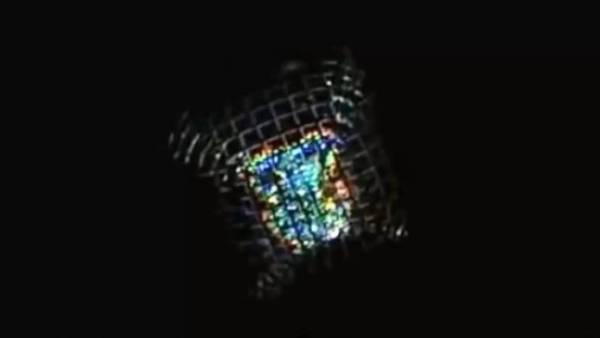 Ovni de Luz Filmado en un Campo de Cereales