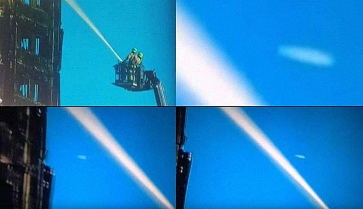 BBC y Euro News muestran OVNI volando pasando por la Torre Grenfell