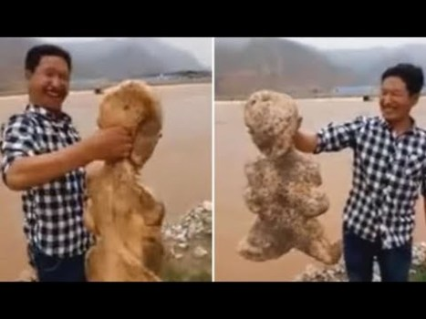 Criatura Humanoide Aparece en una Playa de China