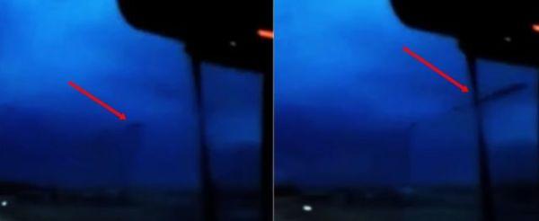 Algo raro aparece en el cielo sobre Nebraska durante una tormenta.