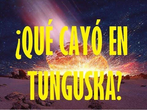 ¿ Que cayó en Tunguska?