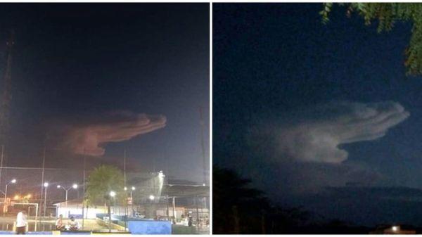 'Mano de Dios' aparece en el cielo sobre Brasil