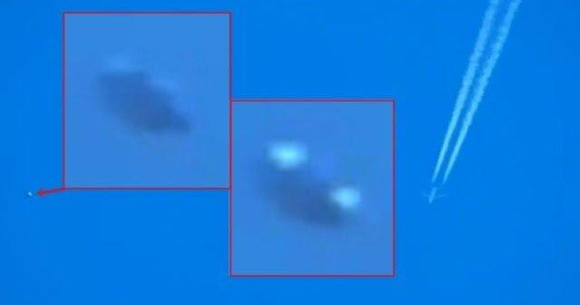 Objeto volador no identificado sigue avión comercial (abril de 2015)