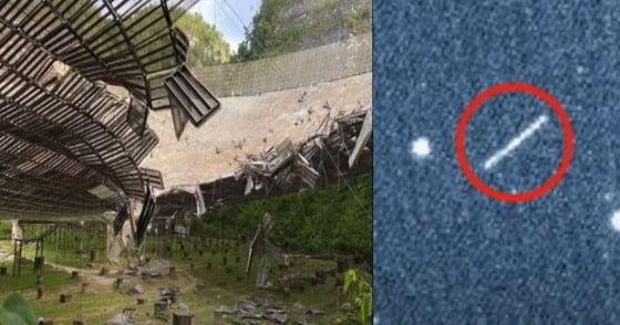 Telescopio Arecibo Puerto Rico dañado a propósito y cerrado debido a misterioso objeto espacial