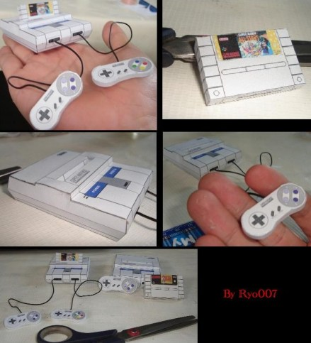 Snes_Papercraft_set___Finished_by_ryo007