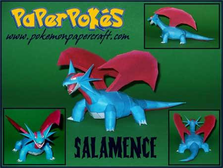 Salamence papercraft
