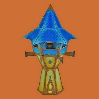 Torre de los altos elfos papercraft