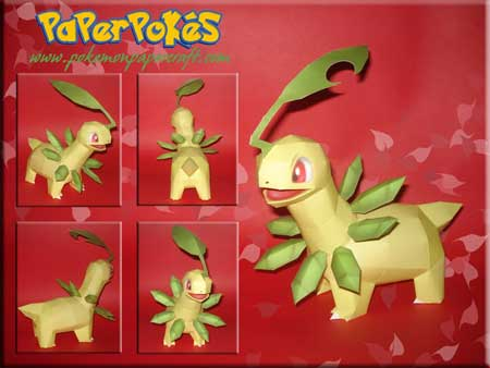 bayleef papercraft