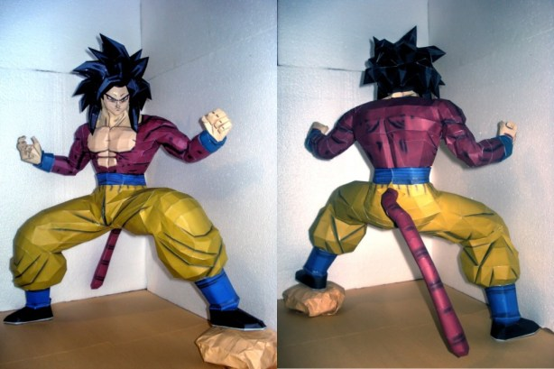 Dragon-Ball-Goku-Supersaiyajin-4-Papercraft