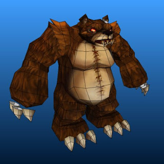 League of Legends Tibbers Papercraft